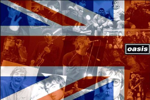 Oasis - Union Jack wall mural canvas print - self adhesive poster - photo print